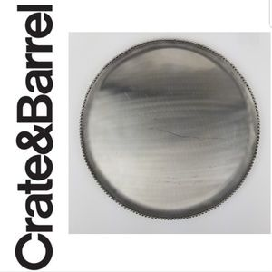 Crate and Barrel 16 inch beaded edge platter cb2
